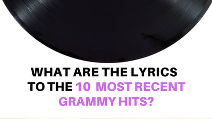 These songs were all over the radio...but how well do you know these iconic hits? Take this grammy quiz to find out.