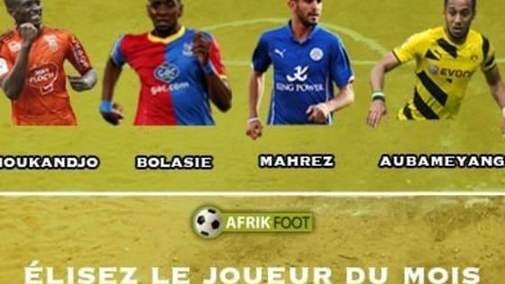 Votez pour le joueur Afrik-Foot du mois de novembre 2015.