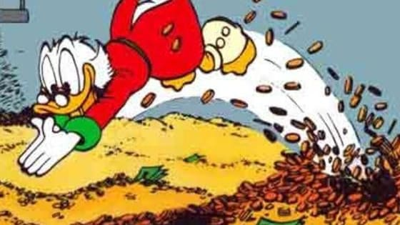 Will you be swimming in it like Scrooge McDuck?