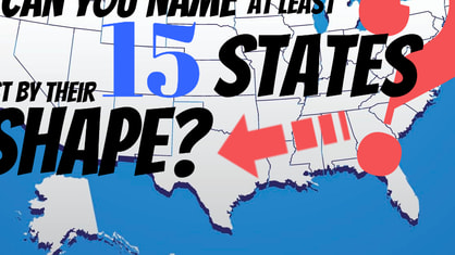 We'll show you the shape of a state - you name it. If you can get 15 correct, you're one of only 2% of Americans who can do the same!