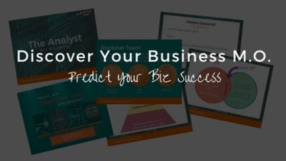 You need to know your Modus Operandi so you can predict your future business success. Understand your M.O. and do business YOUR WAY!  Take the quiz and sky rocket your success now.