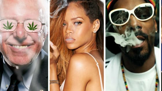 Swipe right or left on these stoner celebs and tell us who you'd rather get high with!