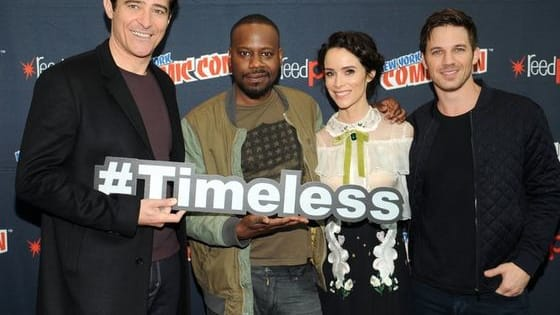 The stars of the NBS show Timeless which airs Monday nights at 10pm EST, took to the stage at the New York Comic Con on Sunday, Oct. 9th!  Here are some pictures of them with the fans!  Beware as there are some SPOILERS if you have not seen the 2nd episode yet.