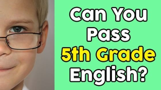 Take a trip back to elementary school and test your English grammar skills with this quiz!