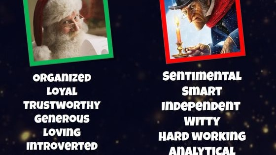 It's Christmas! Are you a jolly Santa or a bitter Scrooge? Let's find out!