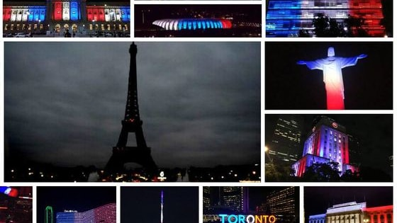 These buildings and monuments from around the world are beautifully lit to show solidarity with France and to honor the victims of the devastating Paris attacks.