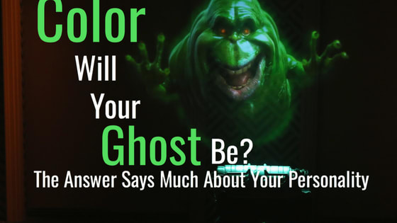 When we die, if we end up stuck on Earth as ghosts, we won't all become the same color of ghost. The color our ghost version takes is dependant upon our personalities and the lives we've led. Take this quiz and find out which color your ghost will be.