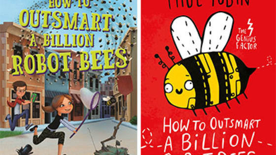 Have you read How to Outsmart a Billion Robot Bees yet? It's part of a BRILLIANT series called The Genius Factor by Paul Tobin! Now, we're not saying you should join Delphine's Cake vs Pie Club, but if you did ... you'd be faced with the ULTIMATE choice: CAKE VS PIE.