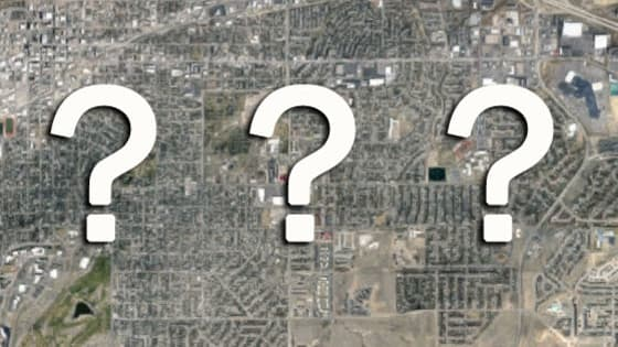 Casper has a variety of buildings both plain and unique, but they look much different from above. Can you name these locations from above?
