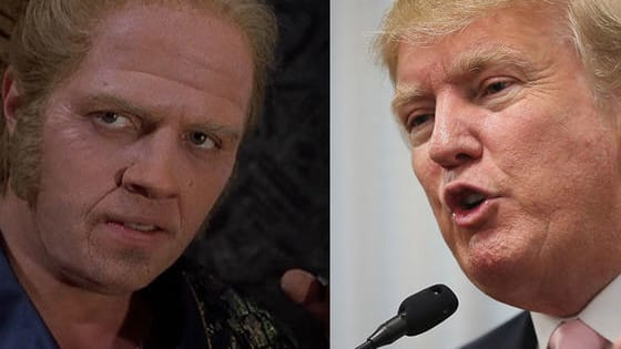 Before 2015, the Back to the Future movies and Donald Trump seemed dimensions apart. Then, Trump joined the presidential race this summer and before the DeLorean could hit 88mph, someone blurred the lines between fiction and reality by editing his announcement into a scene from Back to the Future Part II (http://bit.ly/1EVSgRX).  Can you tell apart the Trumpisms from the Tannenisms?