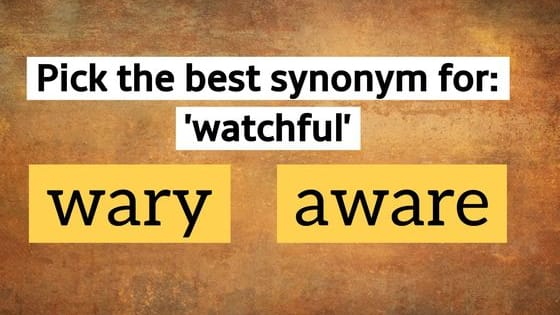21 synonym questions to figure you out.