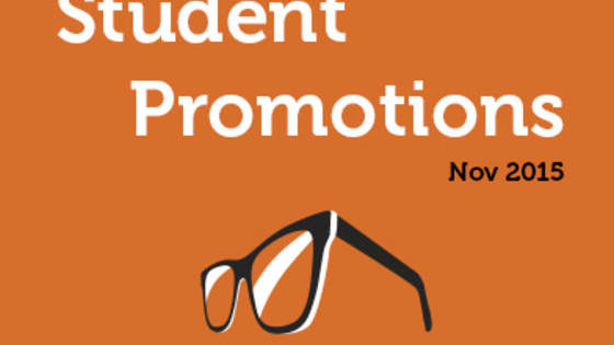 We have put together some of the great dining promotions specifically for students, for the month of November!