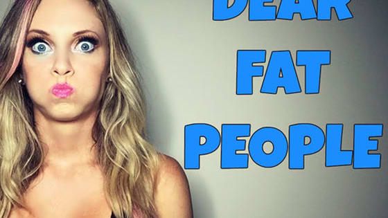 """YouTube Star Nicole Arbour went on a comedic tirade against fat people claiming there is no such things as """"fat shaming"""" and comparing overweight people to """"slow-moving zombies"""". Is this funny or offensive?"""