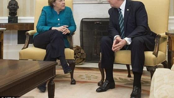 Spicer said in a press briefing today that Trump simply didn't hear the photographers requests for a second handshake. Trump claims that Merkel had a wonderful visit, but what does this clip of them tell you?