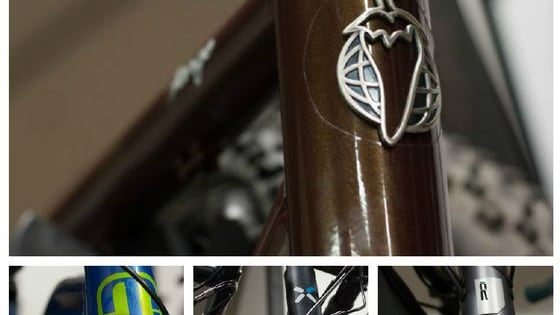 Can you guess the bike brand from the head tube badge/logo?