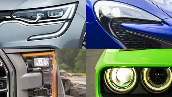 Certain cars have really cool headlight designs - can you which cars these headlights belong to?