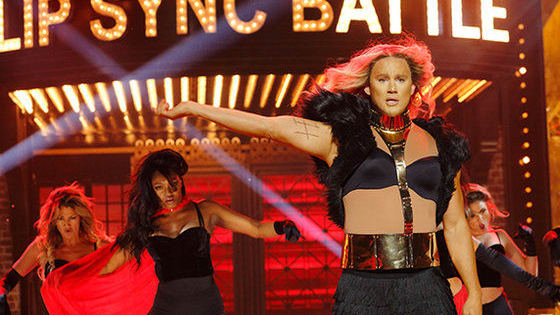 "Channing Tatum and Jenna Dewan-Tatum, husband and wife dance duo extraordinaire, duke it out in the Season 2 premiere of Lip Sync Battle. Jenna reimagines Channing's famous Magic Mike XXL routine while Channing brings in some extra firepower for his version of Beyonce's ""Run The World (Girls)""!"