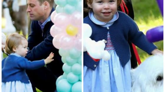 On the sixth day of the Duke and Duchess of Cambridge's tour of Canada this week, Prince George and Princess Charlotte came out to play at a party for children of the Canadian military and there are plenty of pictures that show the fun!