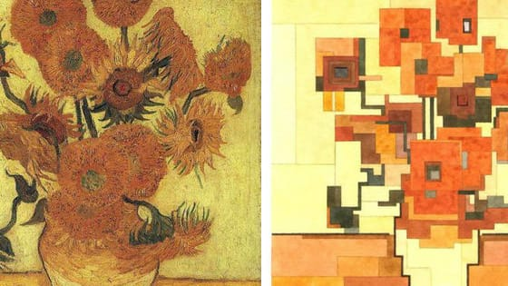 Artist Adam Lister has turned some of history's most famous paintings into pixelated works of art. Below, you can see the originals and then flip to see Lister's awesome interpretations!