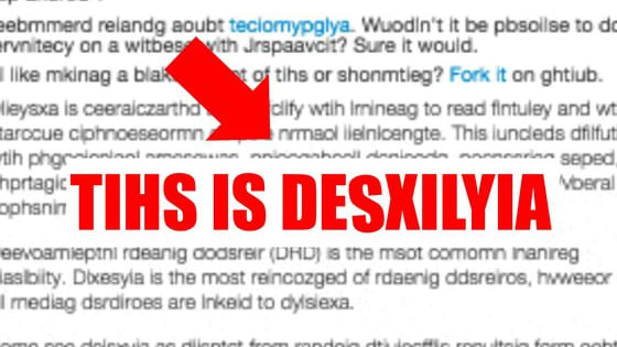 A new site simulates the symptoms of dyslexia, and the result is mind blowing.
