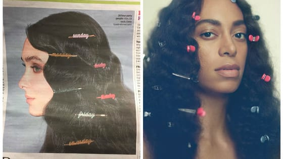 """An image of a white model wearing a hairstyle resembling that worn by Solange Knowles on the cover of her album """"A Seat at the Table"""" is drawing a lot of criticism and raising a lot of questions about cultural appropriation. What do you think?"""