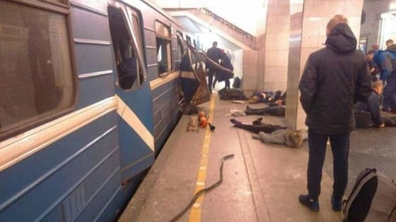A nail bomb in a briefcase dropped into St. Petersburg's metro exploded in transit from the Sennaya Ploshchad to the Sadovaya metro station, killing at least 12 people and injuring over 50. Find out more here.