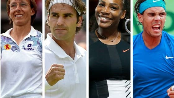 Let's not separate men and women: straight up, who is the greatest tennis player of all time in your opinion?