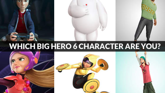Big Hero 6 won the Oscar for Best Animated Feature at the Grammys this weekend, and releases on DVD and Blu-ray today, February 24! To celebrate, take the quiz to find out which Big Hero 6 character you are. Are you Hiro, Baymax, Wasabi, Honey Lemon, Go Go Tomago or Fred?