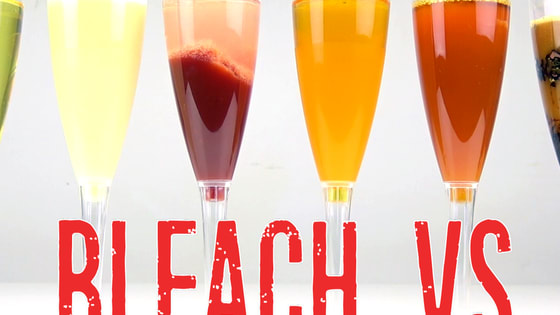 What Happen If You mix Bleach (Clorox) with Coca Cola, Milk, Ketchup, Wine, Coffee, Cocoa.