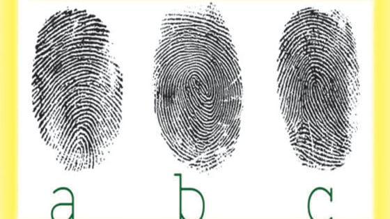 Studies have been done to see if our fingerprints change over time, and after quite sometime it was concluded that they don't change and therefore are very good for identifying people.  No one has the same print on his or her fingers, and even your own fingers don't have the same print, finger to finger. They are you and only you.  There are a few categories that your finger pads will fall under: 1) Curve 2) Swirl 3) Loops Our fingerprints develop while we are still in the womb, and are fully developed by t