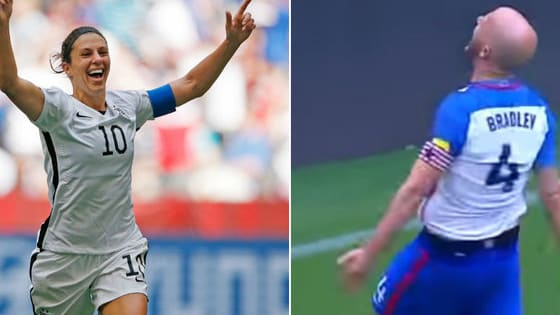 U.S. national team stars Michael Bradley and Carli Lloyd have now each scored unforgettable long-range goals. Which one made you scream the loudest?