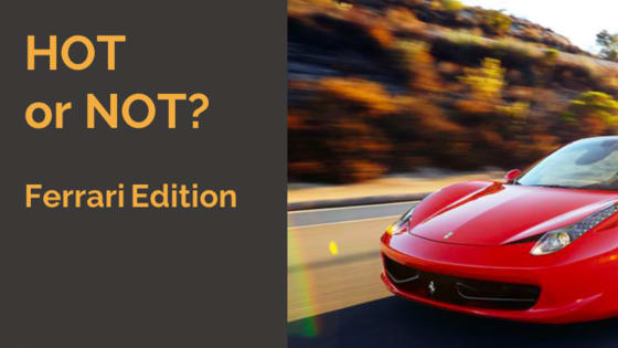 All Ferraris looks best in red and are absolute dream cars? Maybe not - swipe for hot or not!
