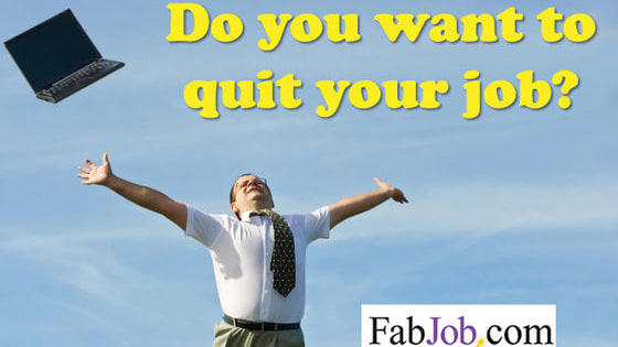 "Most people who want to quit behave differently from workers who like their jobs. Try this fun quiz from www.FabJob.com to see how many of these ""quitting signs"" are true for you."