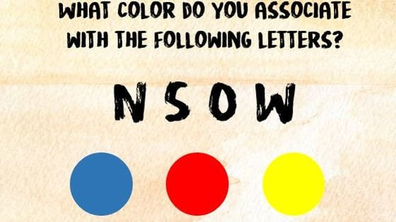 Do you see colors everywhere?