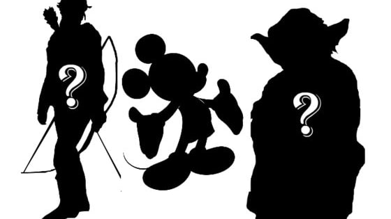 How many famous character silhouettes will YOU recognize?