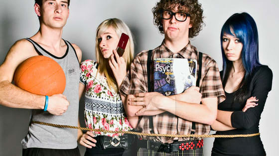 Jock, Nerd, Goth, Hipster, Popular Kid, Average