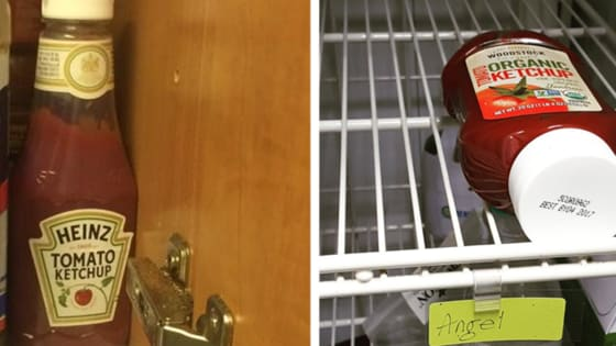 In the fridge or in the cupboard?