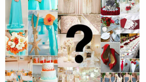 find out which color scheme would look best for your wedding day!