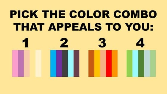 Color and psychology merge together to reveal what your TRUE outlook on life is...