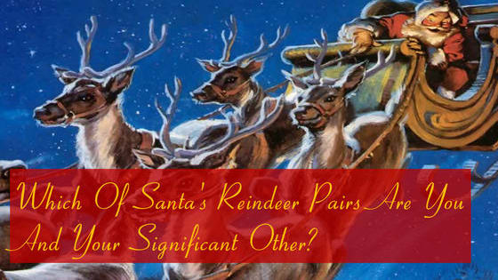 Prancer and Dancer? Donner and Blitzen? Find out how YOU and your loved one would help pull Santa's sleigh!