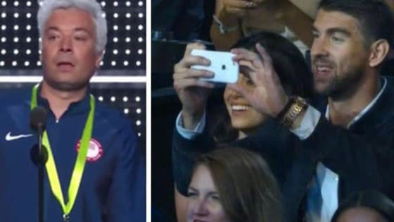 Jimmy killed it, and Michael got the whole thing on his phone-sending it to hid good buddy Lochte? Maybe!