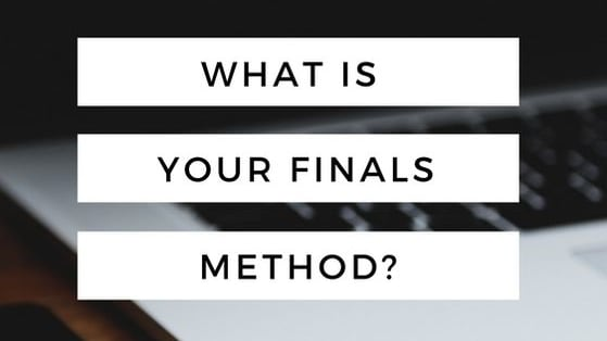 Finals are fast approaching. Take this quiz to find out how you deal with finals. You may possibly be able to fix mistakes before the dreaded week!