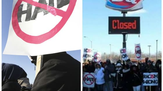 "According to police, he continued to use the slur as he spoke with them, and said he was ""fed up with black people."" Do you think the chain should be shut down? Talk to us about it here!"