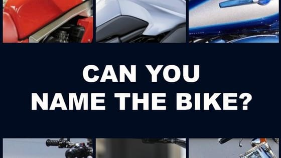 Are shape and color enough for you to identify these motorcycles by their gas tanks alone?