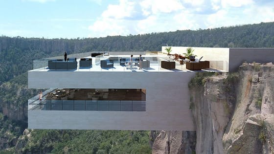 This Cliffside restaurant is equal parts terrifying and beautiful.