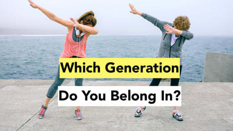 You might be born into a certain generation, but this quiz knows otherwise. Find out if you're in the right generation!