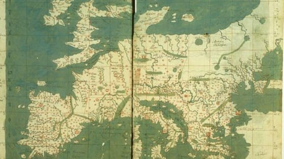 How is your geography skills? To make it extra hard, we are showing you parts of these medieval maps, which are a little different from a modern map.