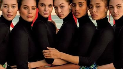 Vogue is now receiving heavy criticism for its use of Photoshop on models Ashley Graham and Gigi Hadid on the cover of its March issue, going so far as to extend Hadid's arm by what looks like about a foot. Do you think Photoshopping like this is acceptable?