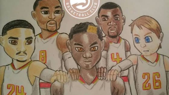 Instagram user @sole_workz is quite the artist, and he's been sketching Atlanta Hawks-related artwork for quite some time.  Take a look at some of his most recent examples below, and follow him as he creates more!