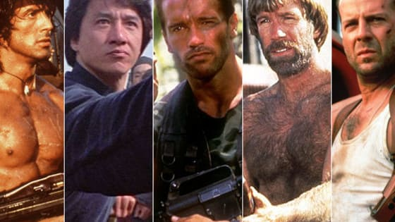 Match the action star to their 1st major lead role!